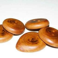 Knoop pruimenbomenhout 3 cm.