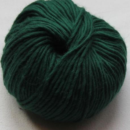 Breiwol,donker groen, een draads. 50 gram / 50 Mtr