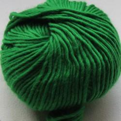 Breiwol,fel groen, een draads. 50 gram / 50 Mtr