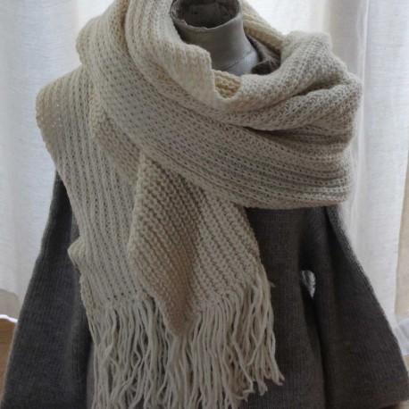Sjaal van eco gecertificeerde wol, prachtig (45 x 190)