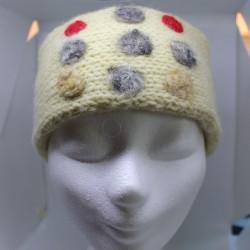 Van bio wol (Soven) gebreide hoofdband