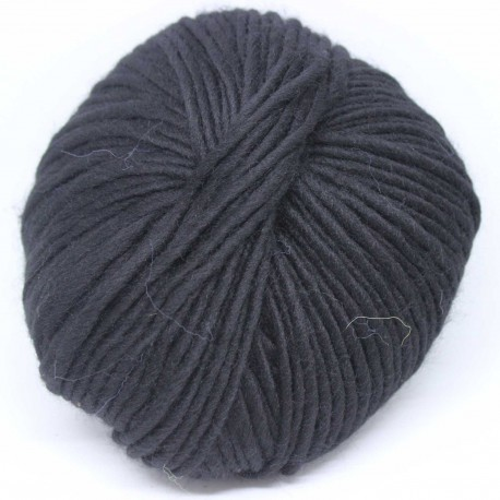 Breiwol,Zwart, een draads. 50 gram / 50 Mtr