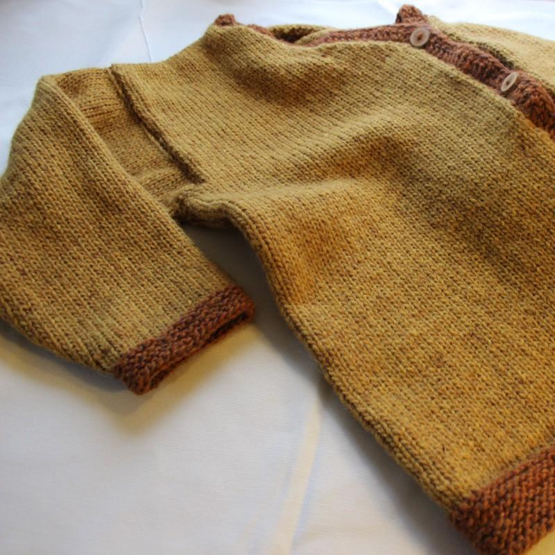 Handgebreid vest, 100% scheerwol. Andere maat of trui