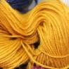 Scheerwol met rami, sokkenwol. Oker , 300m/100gr,Pen 3.5-4