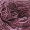 Handgeverfde sokkenwol (Wol met Rami). Midden Aubergine , 300m/100gr,Pen 3.5-4