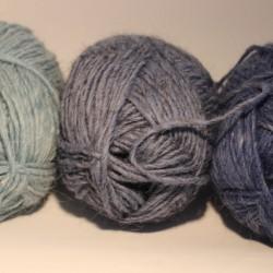 Tweed wol rook blauw